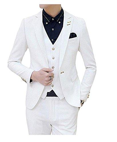 White 3 Piece Suit - 9