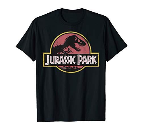 Jurassic Park Original Fossil Silhouette Faded Logo T-Shirt