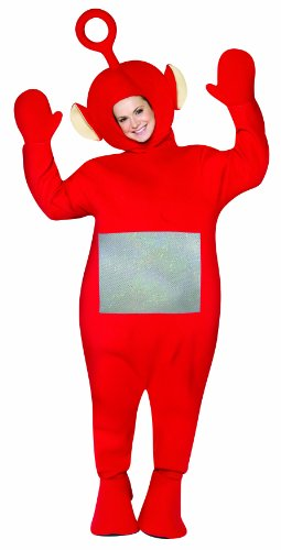 Adult Teletubby Costumes (Rasta Imposta Teletubbies Adult Po Costume, Red, One Size)