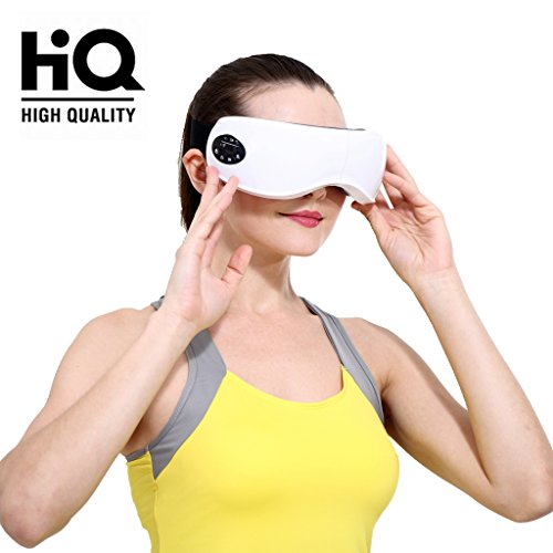 Eye Massager machine - Electric Eyes Relax Therapy with Wireless Digital Heat Music Relief Vision Care Device