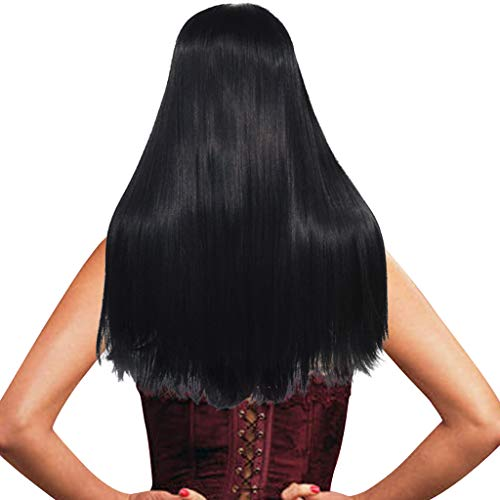 Anboo Women Wigs Long Straight Hair Natural Synthetic Mix Hair Wig Party Custome Daily Wigslace Front Long Full Wigs