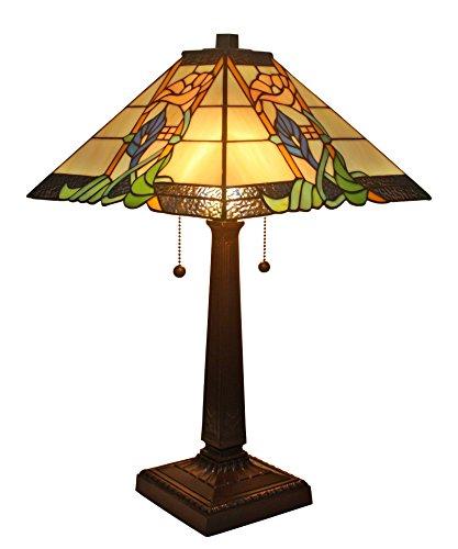 (Amora Lighting AM058TL14 Tiffany Style Mission Table Lamp 23)