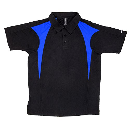 Mens Reebok Royal Match - Reebok Mens Colorblock Golf Polo 5X-Large Black/Royal Blue