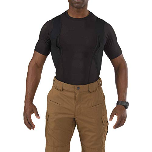 5.11 Tactical Holster Crew Short-Sleeve Shirt,Black,Medium