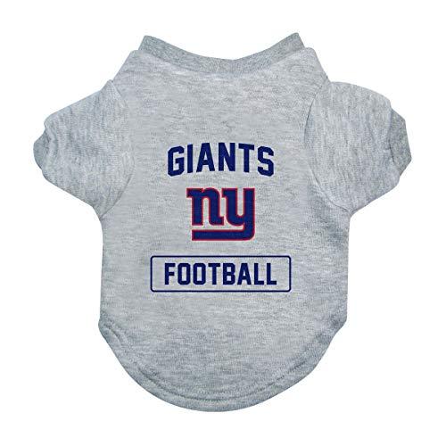 Littlearth NFL New York Giants Pet T-Shirt, Small