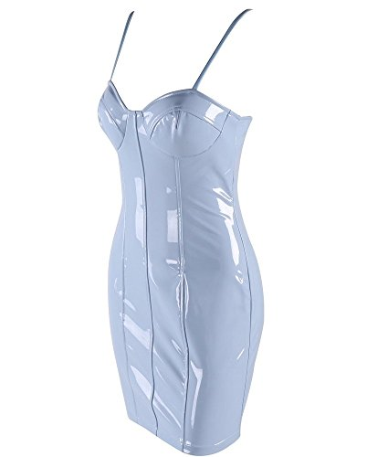 FetiWear Berenice - Sexy PVC Spaghetti Straps Mini Party Dress by FetiWear