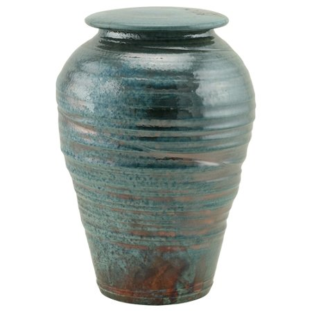 Silverlight Urns Turquoise Lustre Raku Ceramic Cremation Urn
