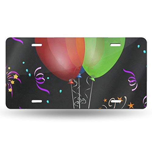 FunnyCustom License Plate Frame Balloon Liqueur Glasses Gift Amazing Aluminum Metal Tag Holder Waterproof 12 x 6 Inch Decoration 2 Pack - Glass Liqueur