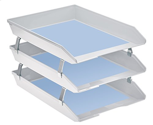 Acrimet Facility Triple Letter Tray Frontal (White Color) Photo #3