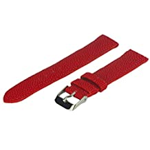 Stingray Watch Band, 26 mm, Genuine Stingray Leather, Red, Long Length