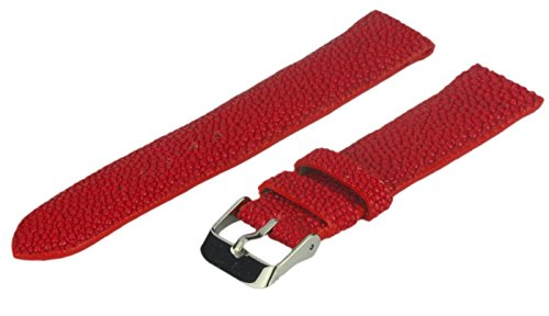 Men's 22-mm Genuine Stingray Leather Watch Strap, Red, Regular - Red Bands Ray