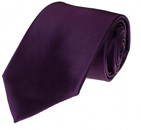 Plum Purple Tie with Matching Pocket Squre - Imani Uomo Neckties - Uomo Mens Fashion