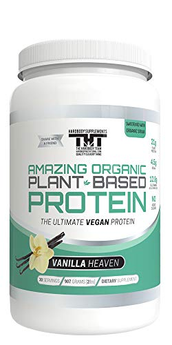 Amazing Organic Plant Based Vegan Protein Powder-The Best Vegan Protein Powder (30 Serving, Vanilla Heaven)