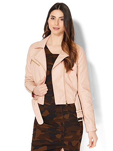 new york and company pink coat - 2