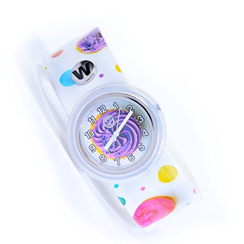 Watchitude Plunge Proof Slap Watch - Cupcake Confetti - Kids Watch for Boys & Girls