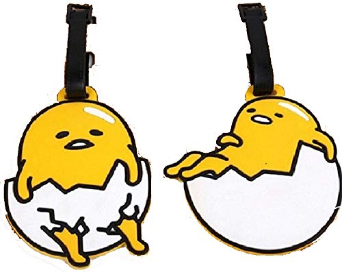 """5"""" 2pcs Lazy Eggs Luggage Tags Charms For Travel Collectiable"""