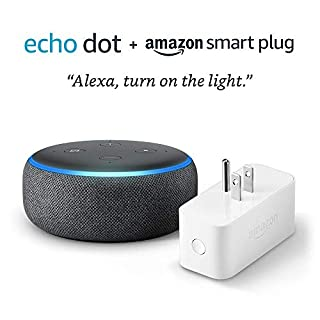 Echo Dot (3rd Gen) bundle with Amazon Smart Plug - Charcoal (B07HFXWDM9) | Amazon Products