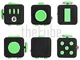 theFube Fidget Cube - Premium Quality Fidget Cube Toy with Exclusive Box (Black & Green) (9 Colors) by PILPOC!