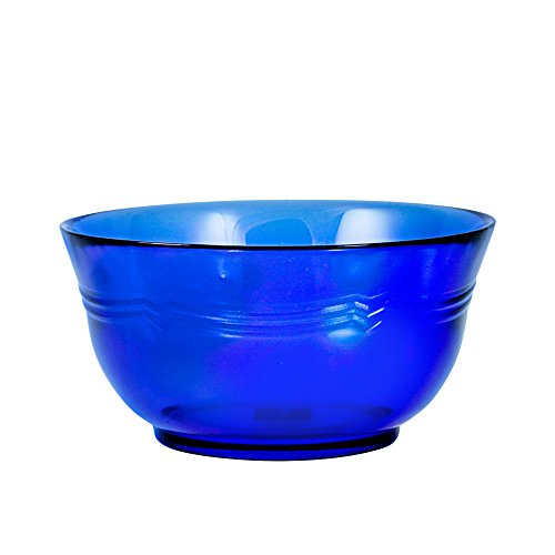 Mikasa French Countryside Cobalt Glass Soup/Cereal Bowl, 24-Ounce