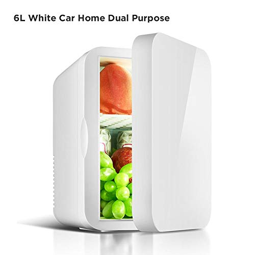 blue--net Portable 12V Car Refrigerator - 220V Single Door Car Home Dual-Use Thermoelectric Mini Fridge - Dual System for Refrigeration and ()