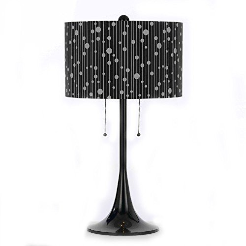 (8438-TL 2 Light Drizzle Table Lamp in Black Shade)