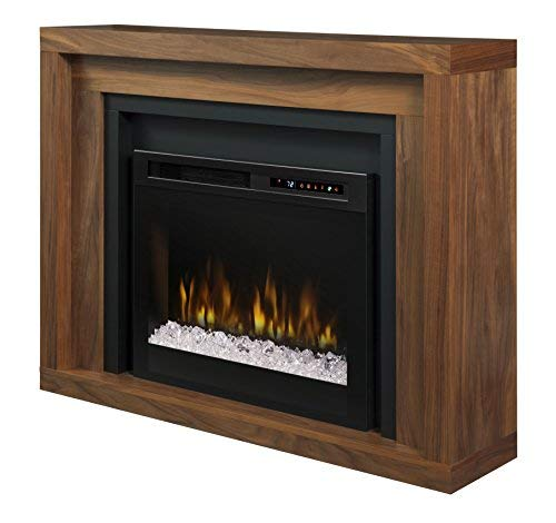 - Dimplex - Electric Fireplace and Mantel with Glass Ember Bed - Anthony #GDS28G8-1942WL