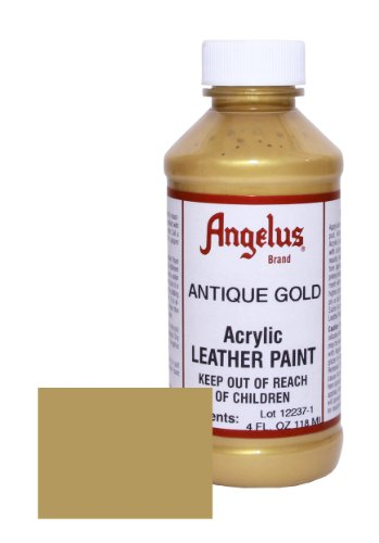 Antique Gold Leather - Angelus Leather Paint 4oz-Antique Gold
