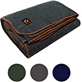 "Arcturus Military Wool Blanket - 4.5 lbs, Warm, Thick, Washable, Large 64"" x 88"" - Great for Camping, Outdoors, Sporting Events, or Survival & Emergency Kits"