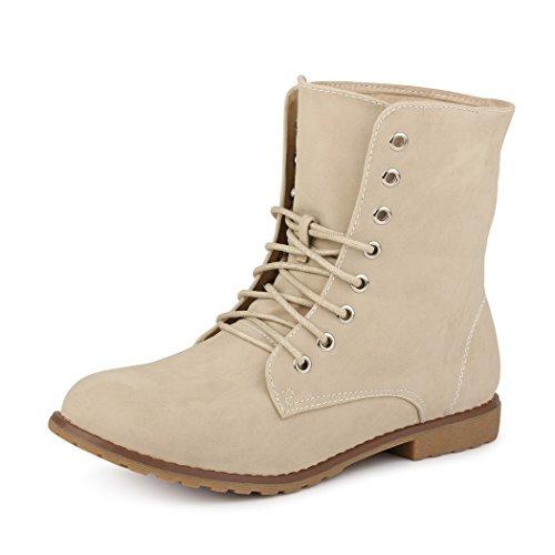 Best-boots - Botas para mujer NEU: Beige (fällt kleiner aus)
