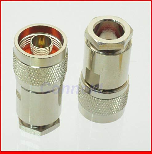 Gimax 5pcs/lot N male plug clamp RG11 RG12 RG144 RG216 RF connector 75ohm