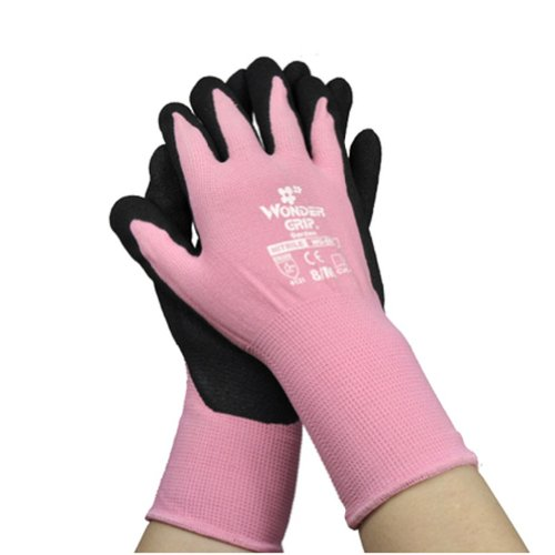 "Discount Creative Professional Nylon/Nitrile Garden Gloves Premium Gloves M 7.8~9"" PINK hot sale"