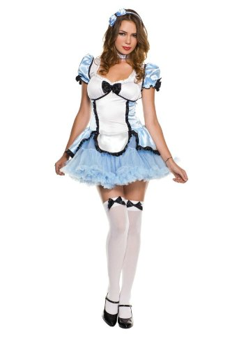 Charming Alice Adult Costume (Music Legs Charming Alice, Blue, Medium/Large)