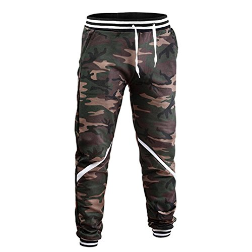 Washed Dungaree Duck Lined Flannel (Men's Jogger,Fit Sweatpant Sportwear Casual Stretch Sports Pants [Comfy Drawstring Bottom Pants Trousers] (Camouflage, M))