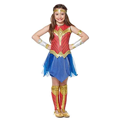 Halloween Wonder Woman Cosplay Costume Elastic Even Clothes Costume Movie Costumes for Child,S]()