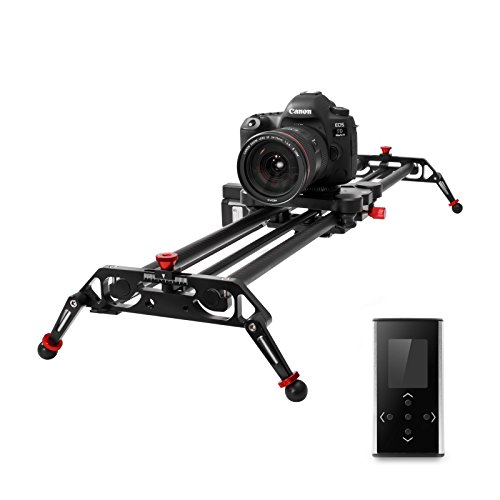 GVM Camera Slider 31'' DSLR Dolly Track Parallax Sliders May Motorized Time Lapse and Video Follow Focus Shot and 120 Wide-angle Shooting by GVM