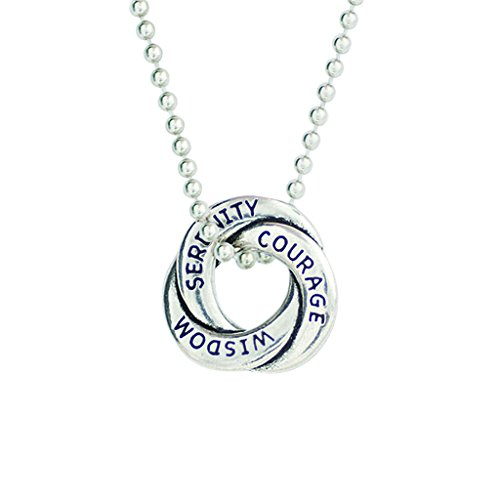 (Pewter Serenity Prayer Necklace 24 in ball chain)