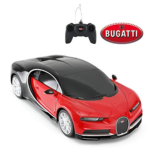 RASTAR Bugatti Toy Car, 1/24 Scale Bugatti Chiron RC Model Car, Red ...