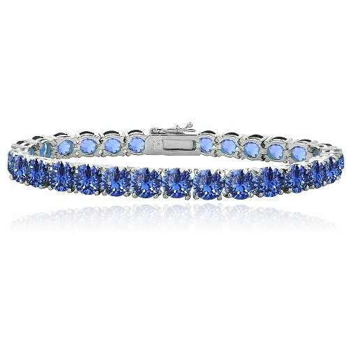 Blue Swarovski Elements Tennis Bracelet