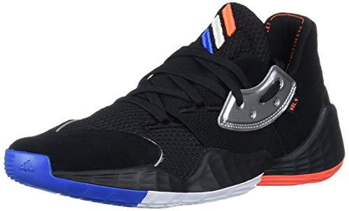 adidas Men's Crazy X 4 Basketball Shoe, core Black/Silver Met./ Bright Blue, 11 Standard US Width US