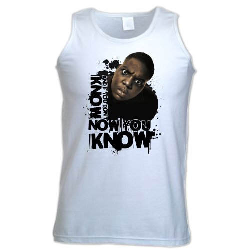 Bang Tidy Clothing Unisex-Adult Biggie Smalls Notorious B.I.G Know You Know Vest Medium White