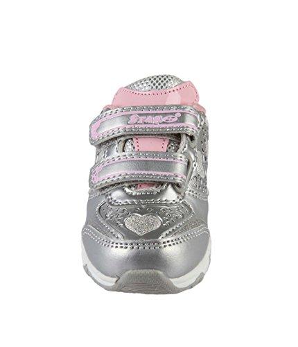 Basket, con velcro y anillo para bebé niña Gris - gris