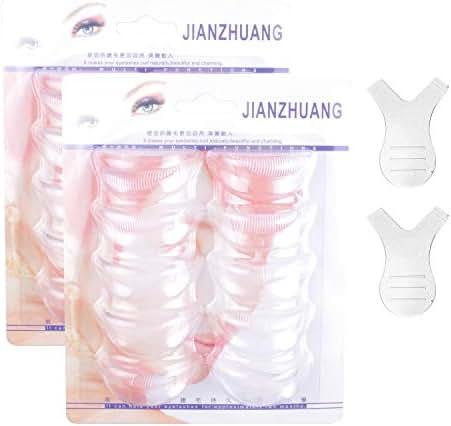 22 Pcs Eyelash Perming Curler Perm Pad 3 Size (20pcs) Y shape lash brush (2pcs), Silicone Eyelash Lift Utensil Reusable Mini Lash Comb Rods DIY Best Makeup Beauty Tool at Home
