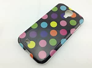 FanTEK Slim-Fit Colorful Cute Polka Dots TPU Case Cover + Clear Screen Protector for Samsung i9500 Galaxy S4 IV
