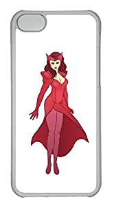iPhone 5C Case, 5C Case - Scratch-Resistant Clear Hard Case Cover for iPhone 5C Scarlet Witch 4 Perfect Fit Crystal Clear Hard Back Case Bumper for iPhone 5C