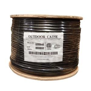 InstallerParts 1000 Ft CAT 5E 350MHz Direct Burial Outdoor High Performance CM/CL2 Type UL/CSA Listed Data Cable -- Black Jacket