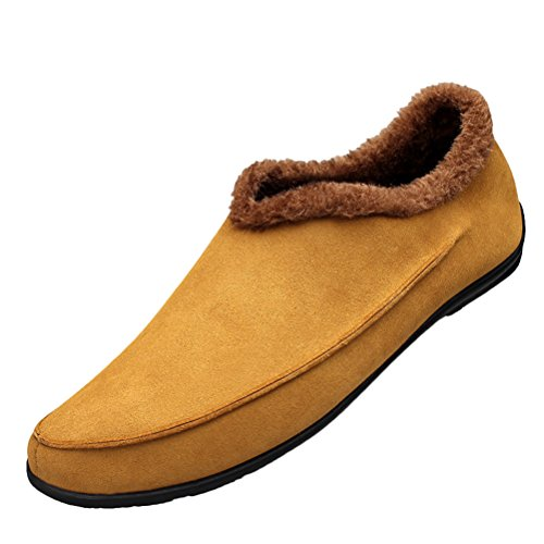 tmates-mens-comfort-round-toe-faux-fur-lining-slip-on-flat-casual-slippers-snow-boots-12-bmusyellow