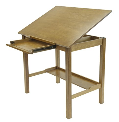 STUDIO DESIGNS Americana II Drafting Table 36in X 48in Light Oak (Worksurface Light)