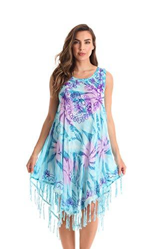 Riviera Sun Sleeveless Umbrella Dresses for Women 21968-TUR-M Turquoise