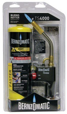 Bernzomatic Soldering & Brazing Torch Kit Swirl Flame 16.92 Oz Peggable Clamshell