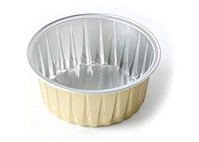 "KEISEN 3 2/5"" mini Disposable Aluminum Foil Cups 120ml for Muffin Cupcake Baking Bake Utility Ramekin Cup 100/PK"